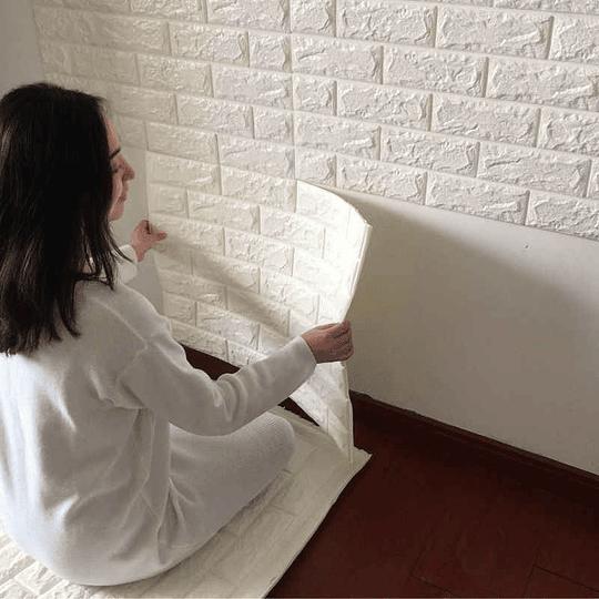 Lamina Adhesiva Muro 700x700x6mm Mix Color Mediterraneo