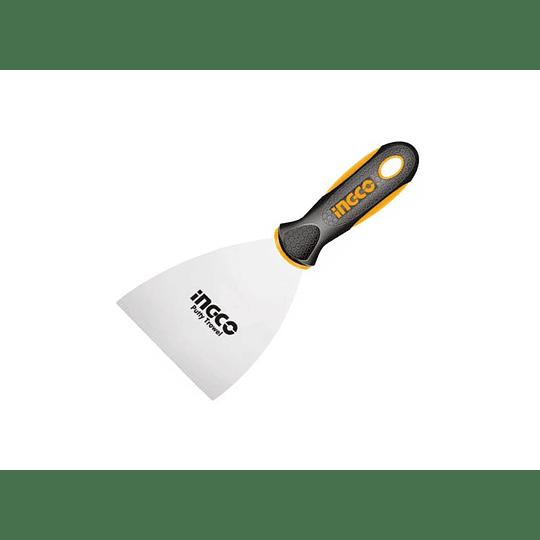 ESPATULA LISA 100 MM INOXIDABLE MANGO PLASTICO INGCO HPUT08100