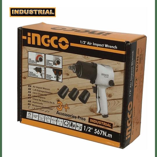 PISTOLA DE IMPACTO NEUMÁTICA 1/2' UNIDAD INGCO AIW12561