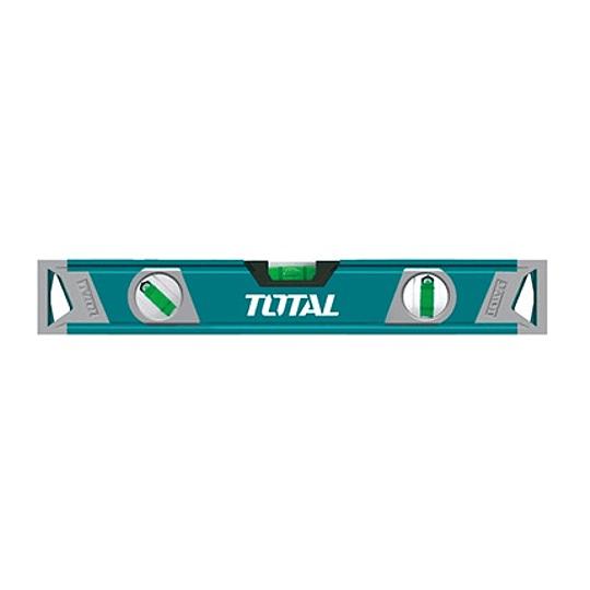 NIVEL DE ALUMINIO 3 AGUAS 40 CM INDUSTRIAL TOTAL TOOLS TMT2406