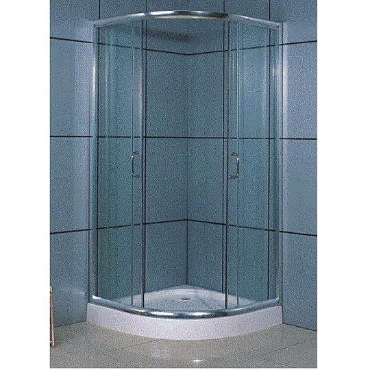Showerdoor Blue con Base Fibra 750X750X1980  cod: 033C-BL