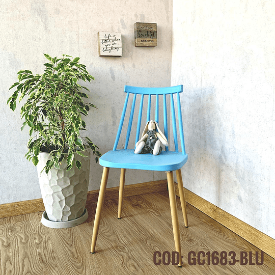 Silla Diseño Cod:  GC1683-BLU