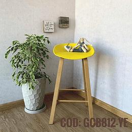 Silla Bar Taburete Moderna  Cod:  GCB812-YE