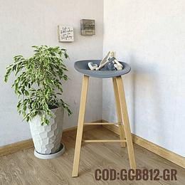 Silla Bar Taburete Moderna  Cod:  GCB812-GR