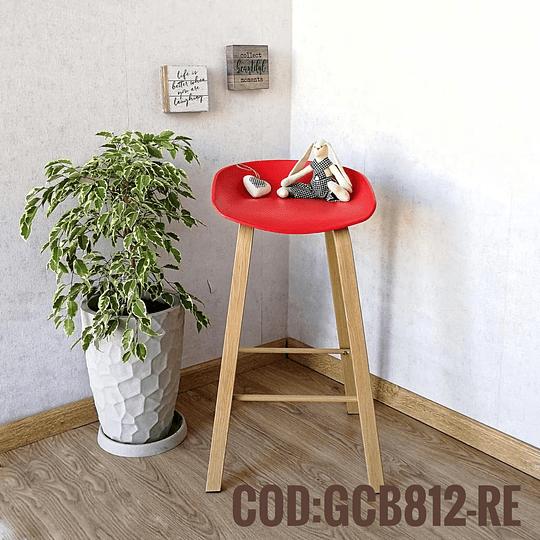 Silla Bar Taburete Moderna  Cod:  GCB812-RE