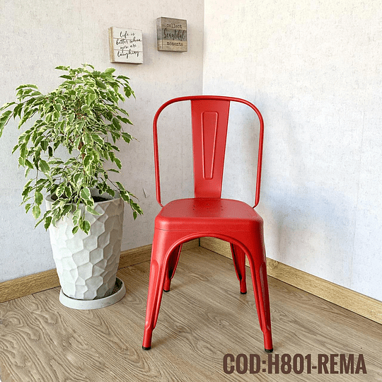 Silla Moderna Metalica Cod:  H801-REMA