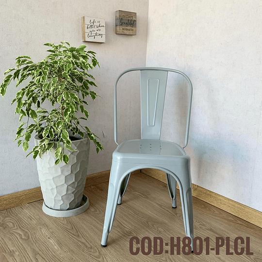 Silla Moderna Metalica Cod:  H801-PLCL