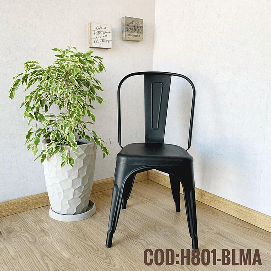 Silla Moderna Metalica Cod:  H801-BLMA