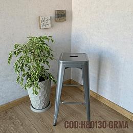 Silla de Bar Metalica Moderna Cod:  H80130-GRMA