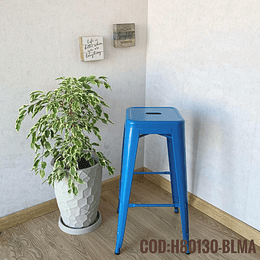 Silla de Bar Metalica Moderna Cod:  H80130-BLMA