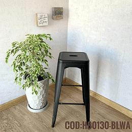 Silla de Bar Metalica Moderna Cod:  H80130-BLWA