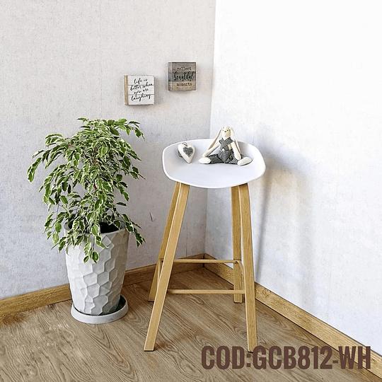 Silla Bar Taburete Moderna  Cod:  GCB812-WH