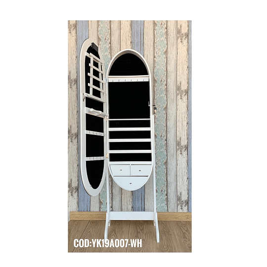 Espejo Joyero Blanco 41 x 10 x 160 cm Cod: YK19A007-WH