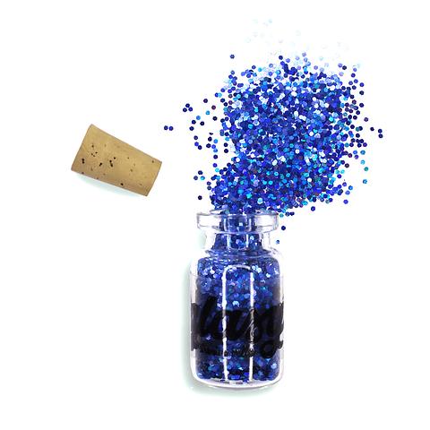 Trocitos Pequeños Azul Oscuro