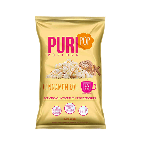 Puripop Cinnamon Roll 210grs.