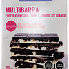 Multibarra Chocolate Negro, Ciruela y Chocolate Blanco. 140grs.