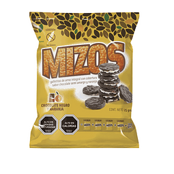 Galletas de arroz Chocolate Naranja 25grs