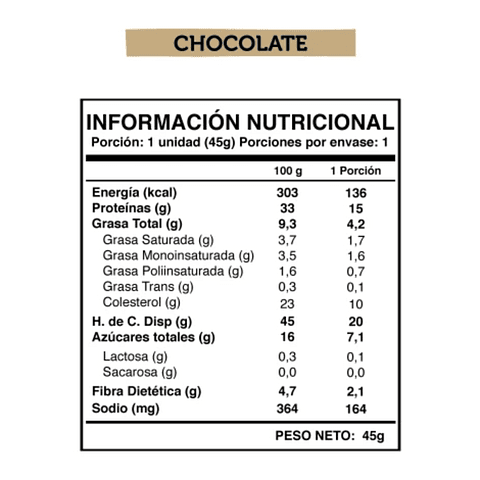 Wild Protein Bar Chocolate 45grs. c/u Display 5UN