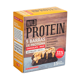 Wild Protein Bar Chocolate y Maní 45grs. c/u Display 5UN