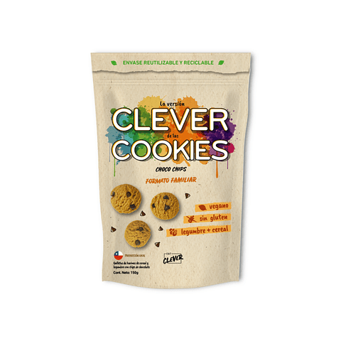 Clever Cookies formato familiar Choco Chips 150 grs.