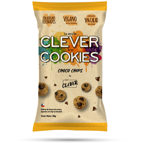 Clever Cookies Choco Chip 30grs.
