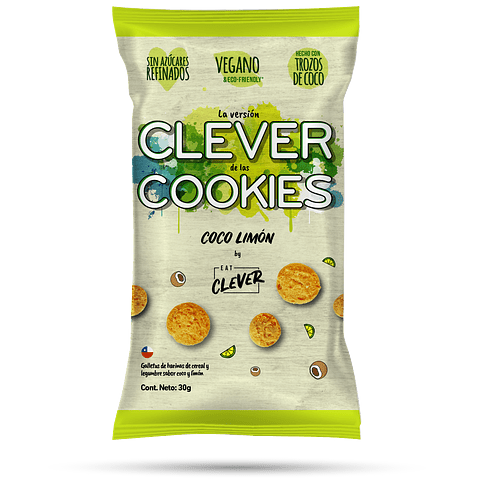 Clever Cookies Coco Limón 30grs.