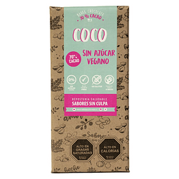 Barra Chocolate Amargo y Coco 80grs.