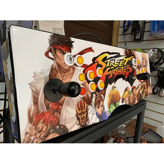 Tablero Arcade Street Fighter 32Gb 10.000 juegos + 30 PS1 en 26 consolas