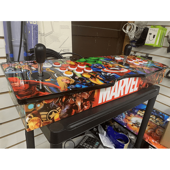 Tablero Arcade Super heroes 32Gb 10.000 juegos 26 consolas