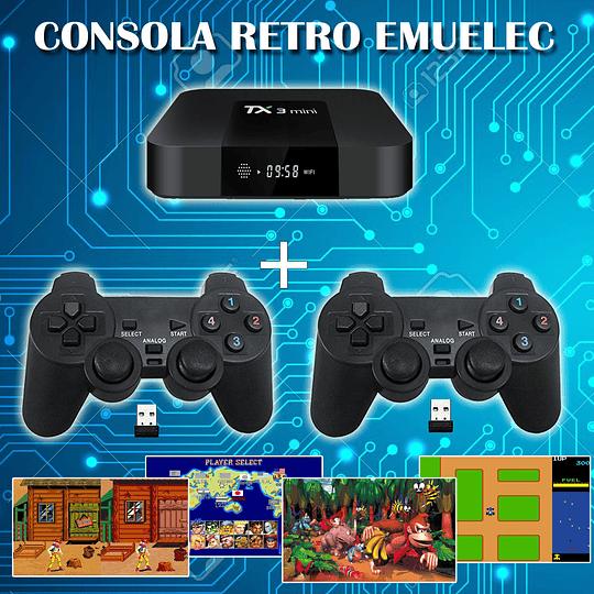 Consola Retro Quadcore 10.000  juegos Joy Inalambricos