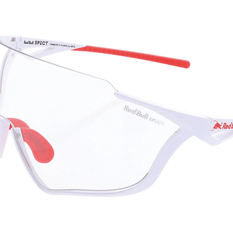 Lente RED BULL SPECT EYEWEAR Pace Chrome-X Blanco y Rojo/Clear