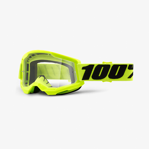 Antiparras 100%  Strata2 Fluo Yellow Clear Lens