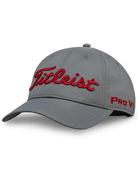 Tour Perfommance Cap Charcoal Red