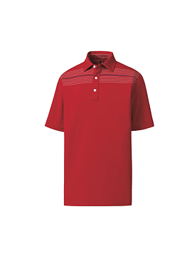 Footjoy Athletic Fit Lisle Chest Pinstripe