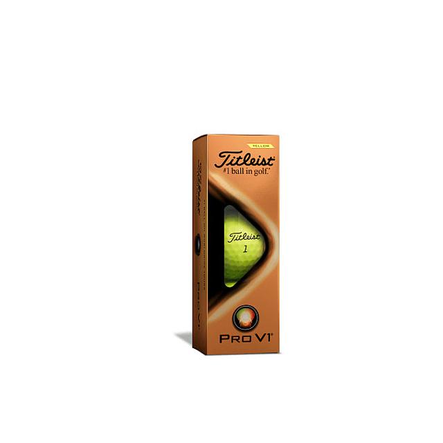 Tubo de Pelota Titleist  Pro V1 Amarillas (3 pelotas)
