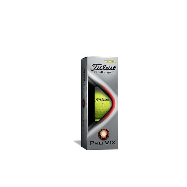 Tubo de Pelota Titleist Pro V1x Amarilla (3 pelotas)