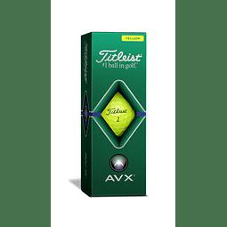 Tubo de Pelota Titleist AVX Amarillas (3 pelotas)