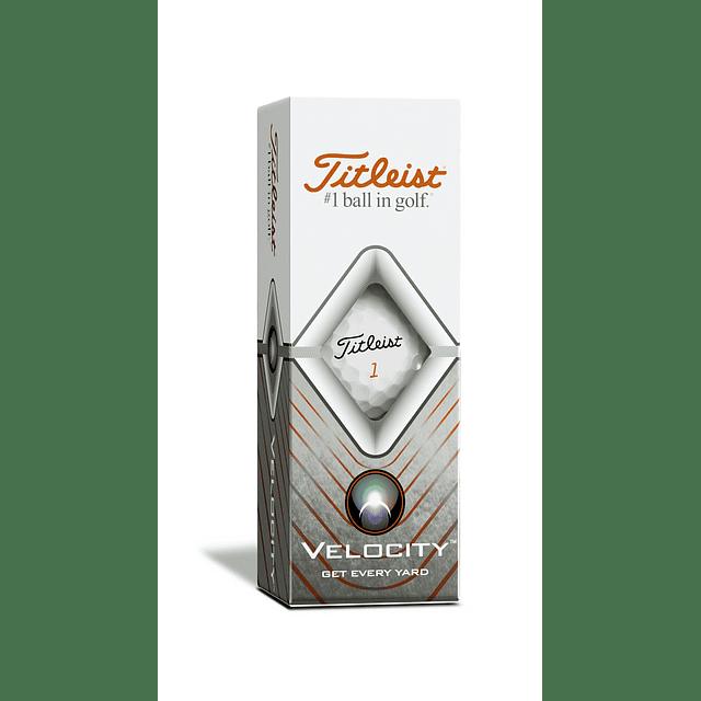 Tubo de Pelota Titleist Velocity (3 pelotas)