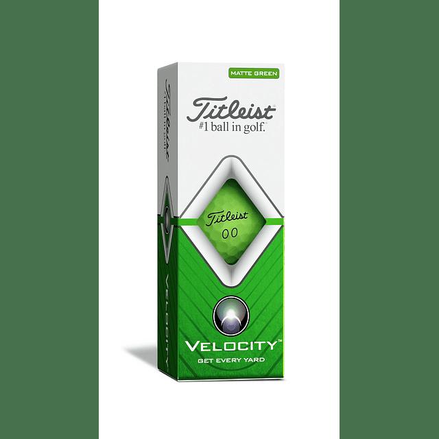 Tubo de Pelota Titleist Velocity Verde Matte (3 pelotas)