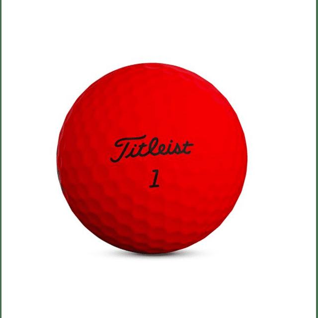 Tubo de Pelota TruFeel Rojo Matte (3 pelotas)
