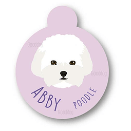 PLACA ABBY POODLE