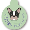 PLACA CAPITAN BULLDOG FRANCES