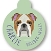 PLACA CHARLIE BULLDOG INGLES