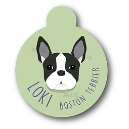 PLACA LOKI BOSTON TERRIER