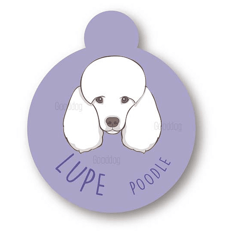 PLACA LUPE POODLE