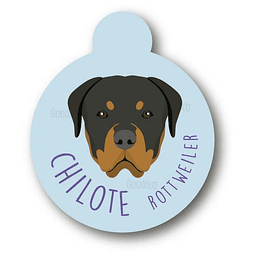PLACA CHILOTE ROTWEILER