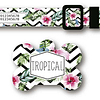 PACK PLAQUITA + COLLAR  DISEÑO TROPICAL