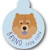 PLACA BRUNO CHOW-CHOW