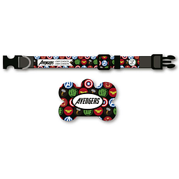 PACK PLAQUITA + COLLAR  DISEÑO AVENGERS