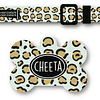 PACK PLAQUITA + COLLAR  DISEÑO CHEETA